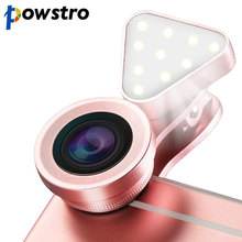 3 in 1 Mini  Portable Selfie Light Clip-on Cell Phone Camera 15X Macro Wide Angle Lens Kit  For Sumsung HTC Huawei Cellphone