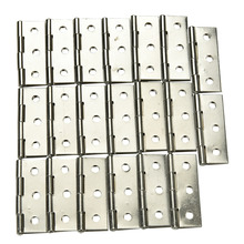 "Stainless steel Cabinet Door Hinge 6 Holes Boat Marine Cabinet Butt Hinge 2"" 10 PCS(China)"