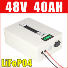 LiFePO4 48V 40AH Battery Pack 2000W Electric bike Motorcycle Lithium ion battery waterproof case LCD display(China)