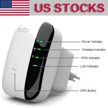 Wireless-N AP Wifi Repeater 802.11b/g/n Network Wifi Router Expander Antenna Extended Wi-fi Signal Repeaters 300Mbps US Plug