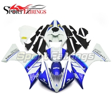 Injection Fairings For Yamaha R1 09 10 11 2009-2011 ABS Complete Motorcycle Fairing Kit Bodywork Cowling White Blue Carenes(China)