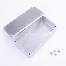 Aluminum Effect Pedal Case stomp Metal Stomp Box Enclosure Accessory Guitar Foot peda Silver With 4 x Screw 11*6*3cm(China)