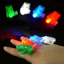 2017 Christmas 50 PCS LED Finger Ring Beams Party Nightclub Gadget Glow Laser Light Torch