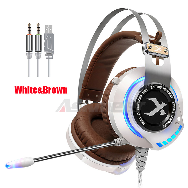 XIBERIA K2 Computer Gaming Headphones Stereo Surround Sound Glowing LED Light Game Headset Gamer with Microphone fone de ouvido (4)