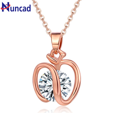 2017 New Arrival Fashion Accesories Charm Cubic Zircon Small For Apple Pendant Necklace Women Jewelry