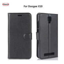 YINGHUI For Doogee X10 X 10 Case Luxury Flip Leather Back Cover Cell Phone Accessories Bags Skin Cases Coque For Doogee X10 5.0""