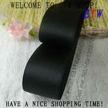 Free shipping 7/8''(22mm) Solid Grosgrain Ribbon Black Color 20yards/lot DIY hairbows gift pack wedding accessories party