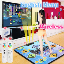 Dancing Step Dancer Pad Blanket to PC with USB C1 for TV and computer Dance MatEnglish menu for PC&TV wireless Dance Mat Dancer(China)