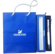2017 swarovski Pen with brand retail box case gift handbag velvet pouch refill swarovski elements crystal pen Free Shipping