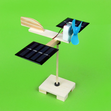 DIY small technology made hybrid solar fan of this hybrid manual assembly materials Free shipping(China)