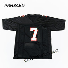 Retro star #7 Michael Vick Embroidered Throwback Football Jersey(China)
