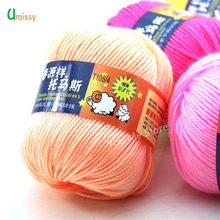 Cashmere Yarn Crochet Yarn Wool Blended Silk Yarn Soft Eco-friendly Yarn 500g/lot