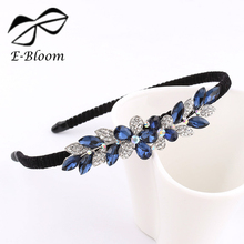 Alloy Rhinestone Bow Flower Butterfly kids Women Headband Cute Girls Blue Festival Fashion Hair Accessories Beautiful Headdress(China)