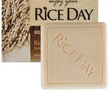 Korea Rice Soap Moisturizing Whiten Rice bran oil soap Milk Bath Whitening Soap Facial Cleanser  Skin Care 100g New