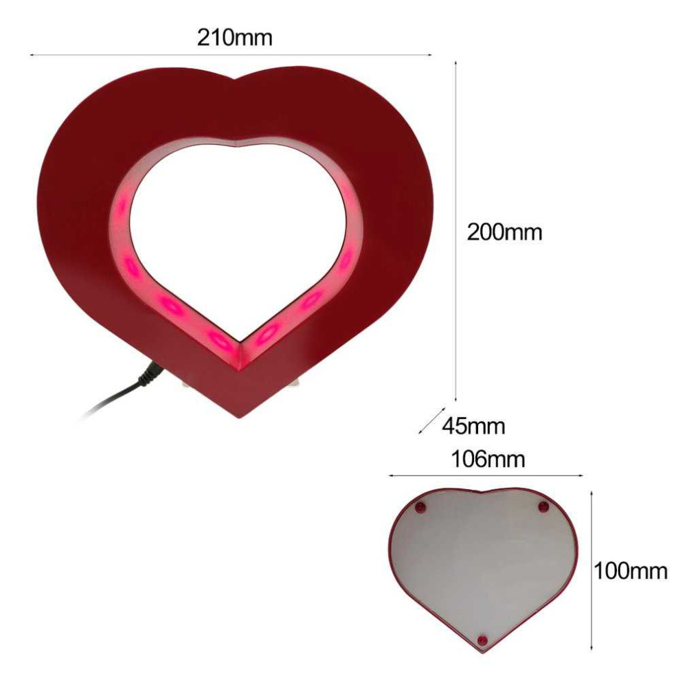 Best Floating Photo Frame Red Heart Magnetic Levitation Pictures ...