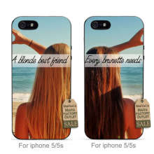 MaiYaCa soft black tpu silicone couple phone Accessories  For iPhone se 5s 6s 7 plus  Every Brunette Needs A Blonde Best Friend