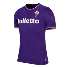 Top Thai quality 2017 New Fiorentina Home Jersey Maillot de Foot 2018 Fiorentina Lass Camisa Casual t Shirts(China)
