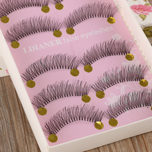 5 Pairs Natural Long Sparse Cross Eye Lashes Extension Makeup False Eyelashes Hot New(China)