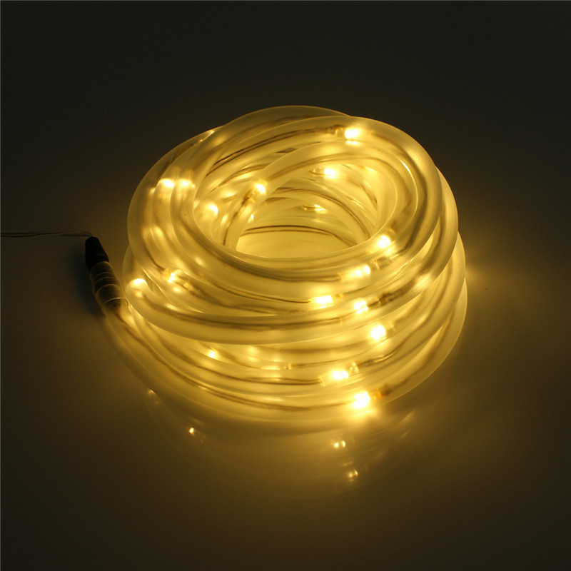 7M 50 LED Fairy Lamp Solar Power Rope Tube Led String Light Led Outdoor Light Garden Christmas Party Decor Waterproof(China)
