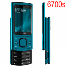 Hot sale Phone Original NOKIA 6700 Silder Mobile Phone 3G GSM Unlocked 6700s Phone Blue & English Keyboard
