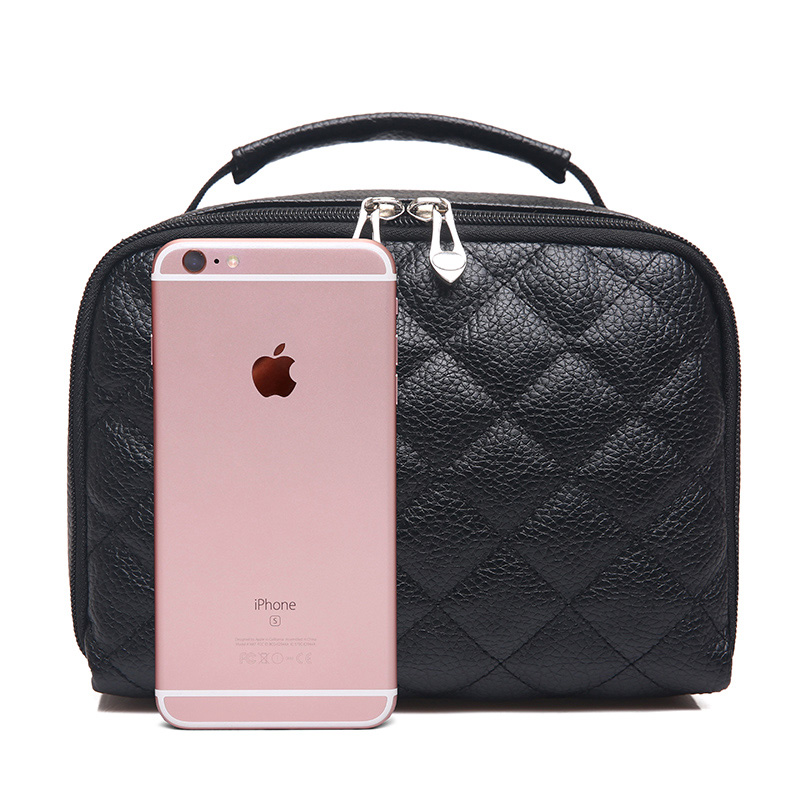 Fashion Large capacity PU Leather waterproof travel cosmetic bags make up storage bag beauty case for carry convenience<br>