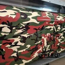 Army Green Red Camouflage Film Wrap Car Styling Sticker Snow Vehicle Motorcycle Truck Vinyl Wrapping Matte/Glossy Finished