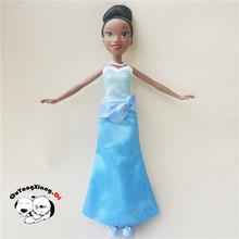 Fashion Action Figure Princess Royal Shimmer Doll Blue skirt Tiana Best Gift for Child