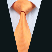 DH-356 Mens Silk Tie Orange Solid NeckTie 100% Silk Jacquard Ties For Men Business Wedding Party Free Shipping(China)