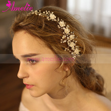 Bridal Fall 2016 Collection Floral Beaded Hair Comb Princess Hairband Wedding Hair Accessoires