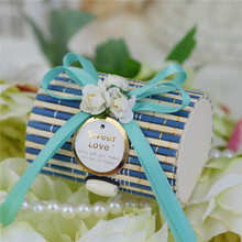 Vintage Forest Wedding Candy Box Bamboo Gift Packing Favor candyBoxes Creative party celebration supplies garden bamboo gift box
