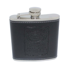 6 OZ Black PU Leather Wrapped Hip Flask Durable Stainless Steel Alcohol Flasks Portable Alcohol Whiskey Liquor Wine Drinkware
