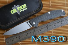 JUFULE Green thorn tabargan 100NS M390 / S35vn blade axis folding knife Titanium carbon fiber handle camp hunt pocket EDC tools