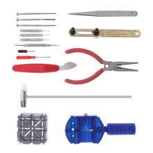 Sale 16pcs Sets of Repair Table Set with Alloy Steel Watch Repairing and Disassembling Tools(China)
