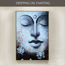 Artist Hand-painted High Quality Modern Portrait Buddha Oil Painting on Canvas New Design Buddha Figure Oil Painting for Decor(China)