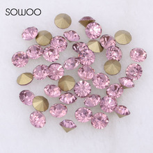 1440pcs/lot 2-6mm sizes Round crystal Fancy stone Pointed back glass light amethyst color stone For Choice Jewelry Making