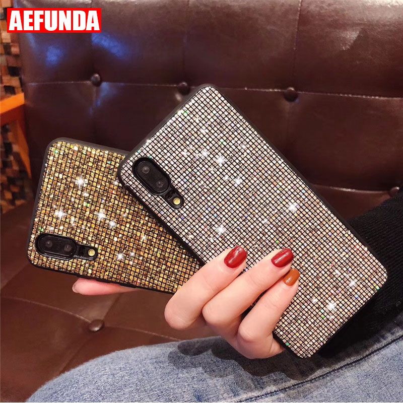 Luxury Glitter Sequins Case For Huawei P20 Pro Lite Case P10 Honor 10 Lite 8X Cases PC Silicon for Huawei P30 Mate 20 Pro Lite(China)