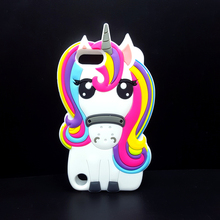 3D Cartoon Unicorn Soft Silicone case For Apple iPod touch 5 /6 itouch 5/itouch 6 Cute Rainbow Horse Fundas Rubber Cover cases(China)