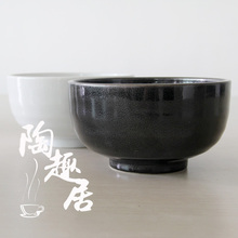 Japan Style brief soild white/black hotel ceramic bowls porcelain tableware deep large bowls rice noddle soup bowls thread bowl