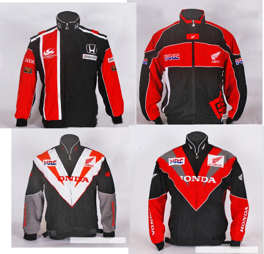 Men male f1 honda  jacket MOTO GP motorcycle motorbike  winter windproof cotton jackets coat