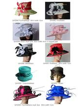 NEW STYLES.Wide Brim Formal Dress Hat Sinamay Hats Kentucky derby hats for church wedding races.FREE SHIPPING BY EMS,10pcs/lot