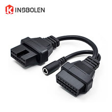 for MITSUBISH 12pin to 16Pin OBD2/OBDII DLC Car Diagnostic Tool cable for Mitsubishi 12 Pin to 16 pin Female extension connector