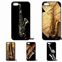 For iPhone 4 4S 5 5C SE 6 6S 7 Plus Galaxy J5 J3 A5 A3 2016 S5 S7 S6 Edge Wooden Alto Saxophone sax music Cell Phone Case