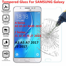 Tempered glass For Samsung Galaxy A3 A5 A7 J3 J7 2017 A520 J1 J2 J3 J5 J7 A3 A5 A7 2016 Screen Protector Protective Film Case