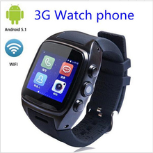 Hot X01 android 5.1 OS Smart watch phone support 3G wifi SIM WCDMA bluetooth 1.3GHz Dual Core 4G ROM Smartwatch with camera(China)