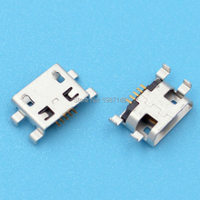 100Pcs Micro USB 5pin B type Female Connector For Mobile Phone Micro USB Jack Connector 5pin Charging Socket(China)