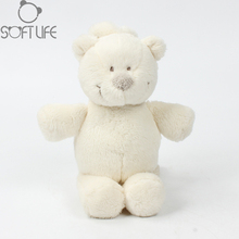 Baby Music Bear Plush Soft Toy Appease Sweet Bear Animal Stuffed Rattles Doll Sleep Comfort Doll For Calm Educational Fun Toys