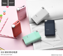 HOCO B30 8000mAh Power Bank Portable Colorful 5V2.1A Charger Case External Back up Battery tablet PC for iPhone X 6 7 8 Redmi(China)