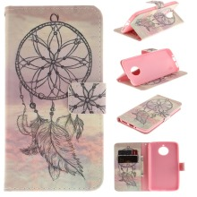 Phone Case for Motorola E4 Cover Colorful Painting Wallet Stand Flip Leather Cell Phone Case for Motorola E4 Plus(China)