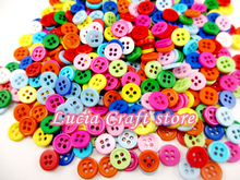 50pcs/lot 10mm Mixed Colors Resin Buttons Fit Sewing or Scrapbooking 004010011