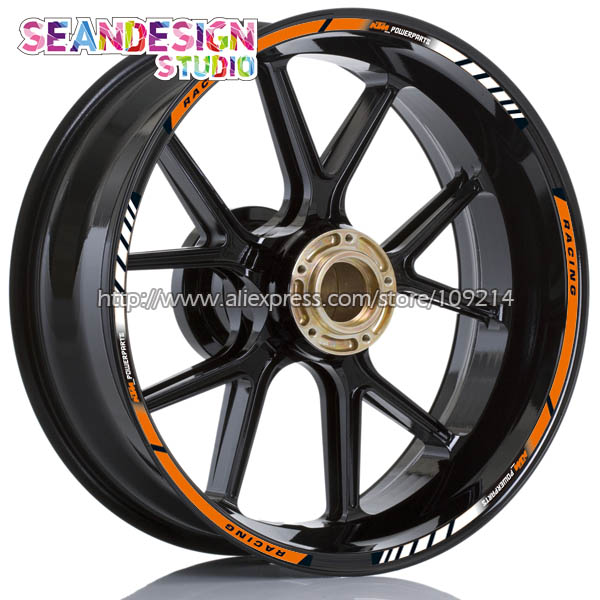 New For Duke 200/390/690/990/1290/RC8/RC390 Motorcycle Wheel Sticker Decal Reflective Waterproof Rim Bike Suitable<br>